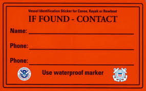 """If Found"" sticker"